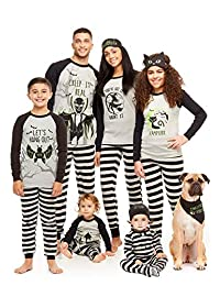 Family Matching Halloween 2-Piece Pajama Sets | Glow in the Dark Top & PJ Pants