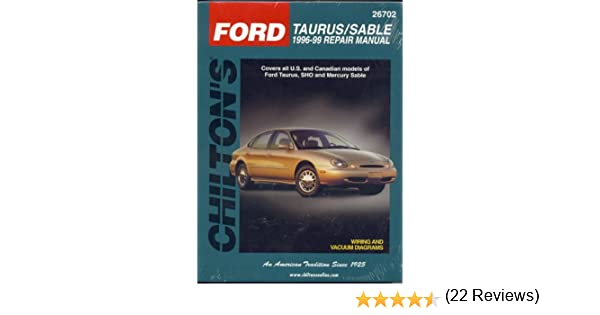 ford taurus sable 1996 99 chilton s total car care repair manuals rh amazon com 99 Ford Taurus Repair Manual 1999 ford taurus repair manual pdf