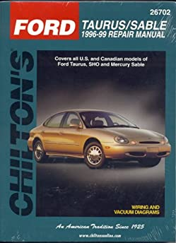 ford taurus sable 1996 99 chilton s total car care repair manuals rh amazon com 1998 ford taurus service manual 1998 Taurus Fuse Box Diagram