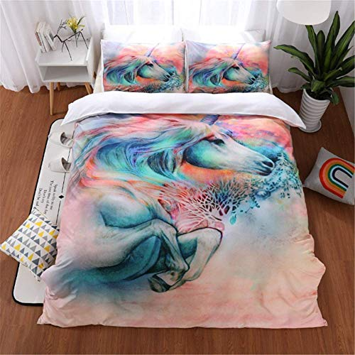 SSHHJ Duvet Cover Set Quilt Cover Set 3D Bedding Set Twin Queen King Size Halloween Black B 200x200cm]()