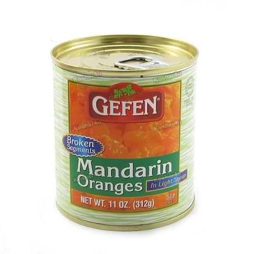 Gefen Fruit Mandarin Oranges Segments, 11-ounces (Pack of 24) by Gefen