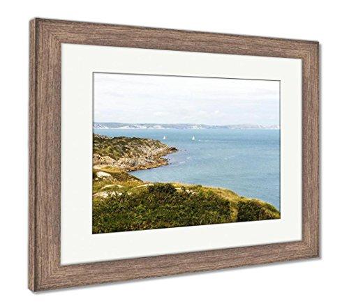 - Ashley Framed Prints Jurrasic Coast Dorset UK Portland, Wall Art Home Decoration, Color, 26x30 (Frame Size), Rustic Barn Wood Frame, AG6504760