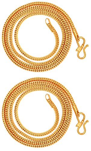 AanyaCentric Gold Plated Brass Neck Chain for Men's