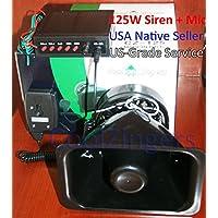 Cool Zingers 125 Watt Police Siren 5 Sound Emergency Vehicle Warning Speaker Pa System Microphone 12v High Power