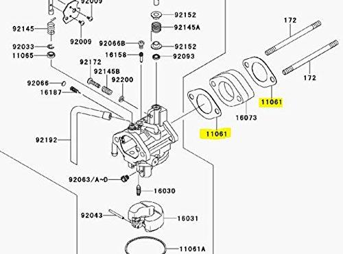 Kawasaki OEM Replacement Head Carb Gasket Mule 600/610 11061-7027