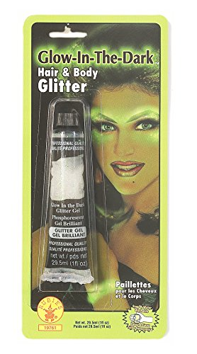 Rubies Glow in the Dark Hair and Body Glitter-green Glow