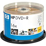 Hewlett Packard 16X 4.7GB DVD+R 50 Pack (Discontinued by Manufacturer)