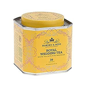 Harney and Sons Royal Wedding Tea Almond Coconut and Vanilla 30 Count Sachet Tin