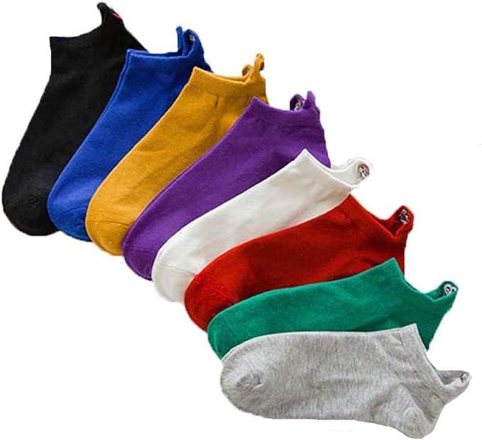 8 Pairs Happy Funny Embroidered Cartoon Women Socks,Cotton Socks Casual Breathable Unisex (Combinación): Amazon.com.mx