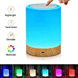 Pherunic Touch Lamp, Bedside Lamp & Table Lamp with Rechargeable Battery, Brightness Adjustable and Color Dimmable, Portable Night Light for Bedroom, Living Room.