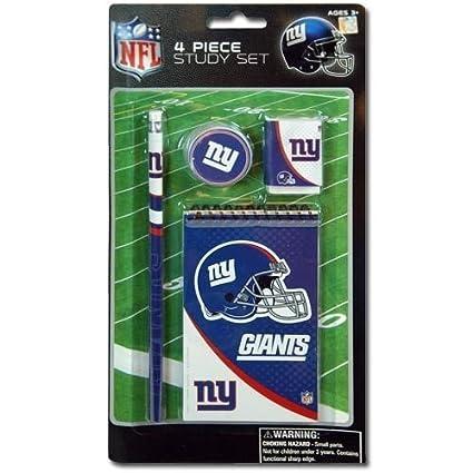 info for 55629 84d24 NFL New York Giants 4pk Study kit on Blister Card - Pencil, Pencil  Sharpener, Eraser, Memo Pads