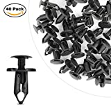 #2: GOOACC Nylon Bumper Fastener Rivet Clips Automotive Furniture Assembly Expansion Screws Kit Auto Body Clips 8mm - 40PCS