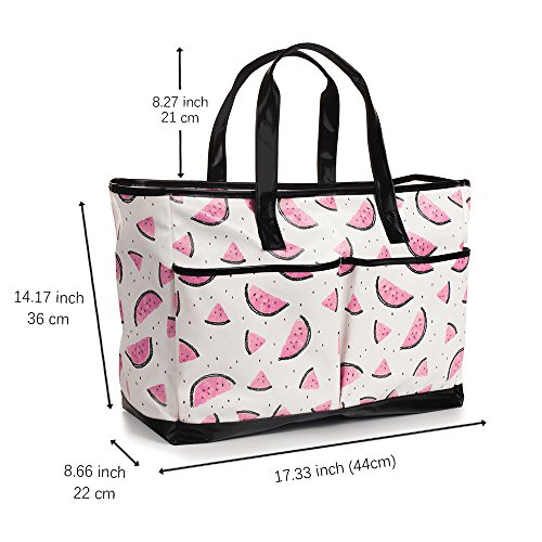 Viva Terry Large Waterproof Beach Travel Tote bag Handbag Organizers- Watermelon by Viva Terry (Image #6)
