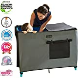 SnoozeShade - Breathable Pack N Play Crib Canopy and...