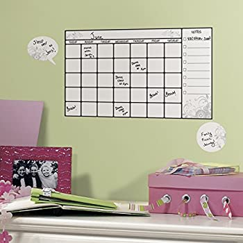 RoomMates Dry Erase Calendar Peel and Stick Wall Decal