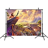 VVM 7x5Ft Cartoon Style Backdrop The King of Animals Photography Background Animal Conference Backdrop for Pictures YouTube Background GYVV086