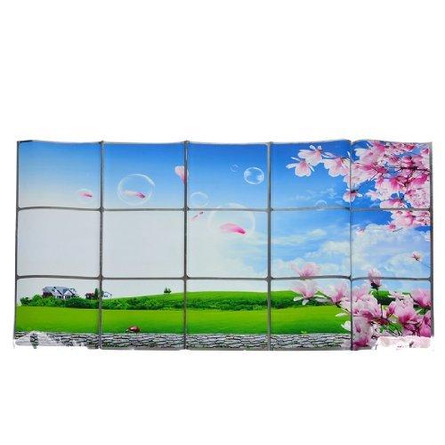 Ciel bleu Paysage Imprimer autoadhsives Cuisine Autocollant Mural 75cm x 45cm
