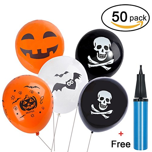 Halloween Balloons,Youniker 50pcs 12 Inches Party Balloons for