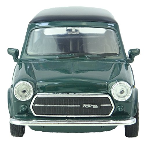 Die Cast Model Car Mini Cooper 1300 in Dark Green with Black Top