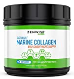 Cheap Marine Collagen Peptides Powder – with 11g Type I Protein & Amino Acids – from Sustainable Wild Caught Pacific Fish Snapper – Provides Vital Joint & Bone + Muscle Support – Skin & Hair Health – 12 OZ