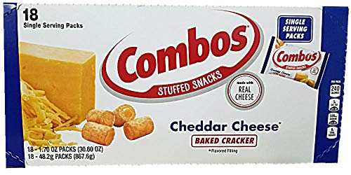 Combos Baked Cheddar Cheese Cracker Snacks 1.7 Oz Bag - 18 count