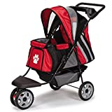 Guardian Gear Roadster II Stroller for Dogs and Cats, Red