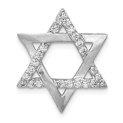 FB Jewels 14k White Gold 1/4ct. Diamond Star Of David Chain Slide