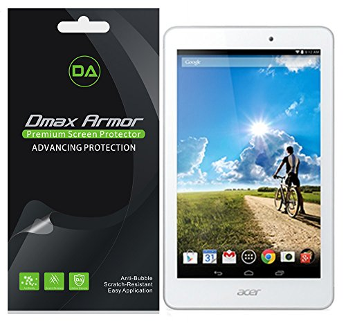 [3-Pack] Dmax Armor- Acer Iconia Tab 8 A1-840 Screen Protector High Definition Clear Shield - Lifetime Replacements Warranty- Retail Packaging