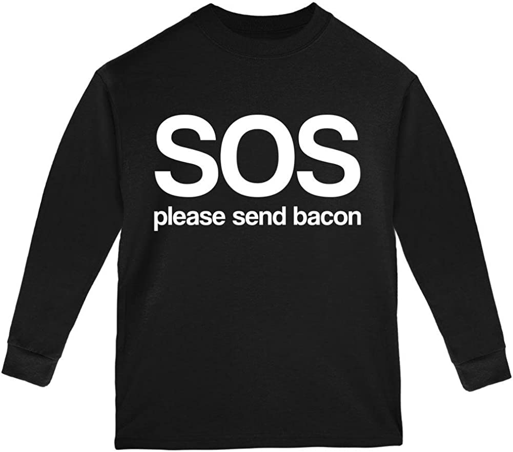 Old Glory SOS Please Send Bacon Youth Long Sleeve T Shirt