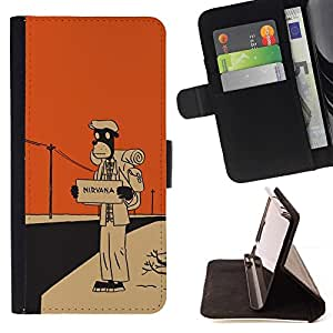 Momo Phone Case / Flip Funda de Cuero Case Cover - Nirvana Hitchhike;;;;;;;; - Sony Xperia Z3 D6603