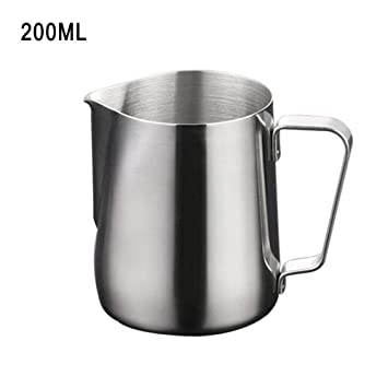 Jarra de acero inoxidable para espumar leche, tazas de acero ...