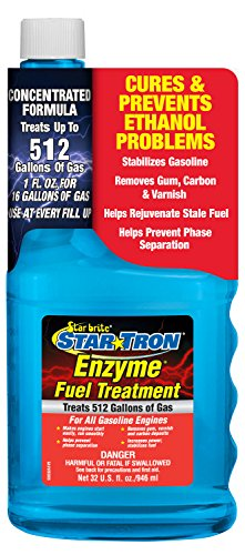 Star Tron Enzyme Fuel Treatment – Concentrated Formula 32 oz – Treats 512 Gallons