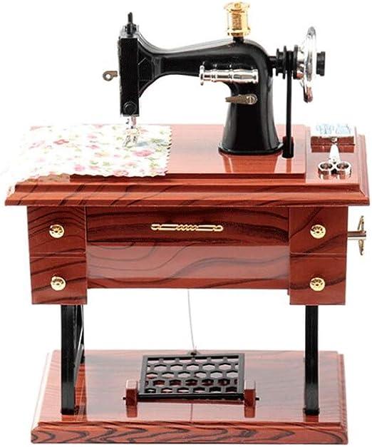 Máquina de Coser de la Vendimia Caja de música Mecanismo Musical ...