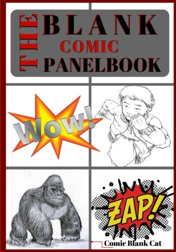 """The Blank Comic Panelbook: Blank comic book panel 7"""" x 10 """", 127 Pages, comic panel, For drawing your own comics, idea and design sketchbook, for ... all levels (The Blank Comic Book) (Volume 2) ebook"""