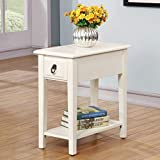 Acme Furniture Jeana 80513 Side Table, White, One Size For Sale