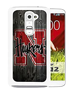Popular Custom Designed Cover Case With Ncaa Big Ten Conference Football Nebraska Cornhuskers 12 White For LG G2 Phone Case