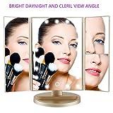 DeWEISN Tri-Fold Lighted Vanity Makeup Mirror