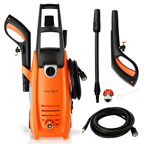 Serenelife Electric Pressure Washer-Powerful Heavy Duty 2000PSI Manual Adjustable High Low Cold Water Sprayer, Rolling Wheels-Power Wash Spray Clean Concrete Driveway Car Home SLPRWAS58 by SereneLife (Image #2)