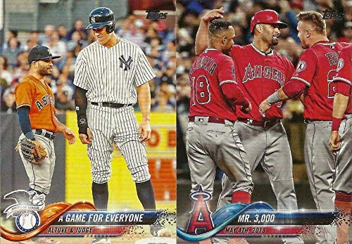 2018 Topps Traded MLB Baseball Updates and Highlights Series Complete Mint 300 Card Set LOADED with Stars and Rookie Cards Including Aaron Judge, Mookie Betts, Ronald Acuna, Juan Soto, Shohei ()