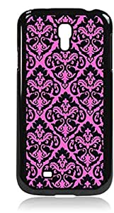 Pink and Black Damask- Hard Black Plastic Snap - On Case with Soft Black Rubber Flip Cover--Samsung? GALAXY S3 I9300 - Samsung Galaxy S III - Great Quality!