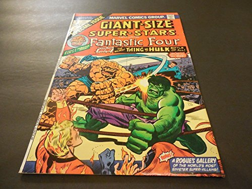 - Giant-Size Super-Stars #1 May 1974 Bronze Age Marvel Comics Hulk Battles Thing