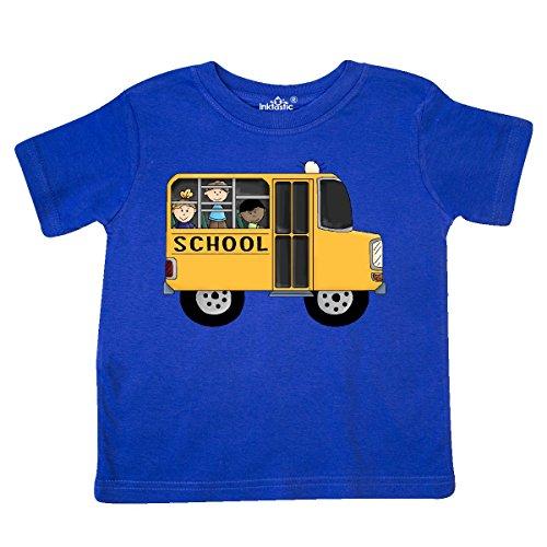 inktastic - School Bus Toddler T-Shirt 2T Royal Blue (Tee School Toddler)