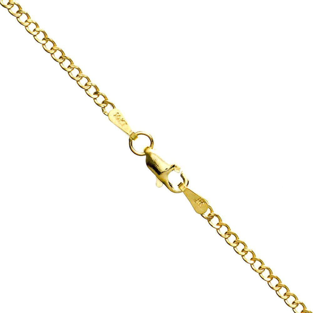 Icedtime 10K Yellow Gold Hollow Italy Cuban Chain 18 inch Long 2.8MM Wide
