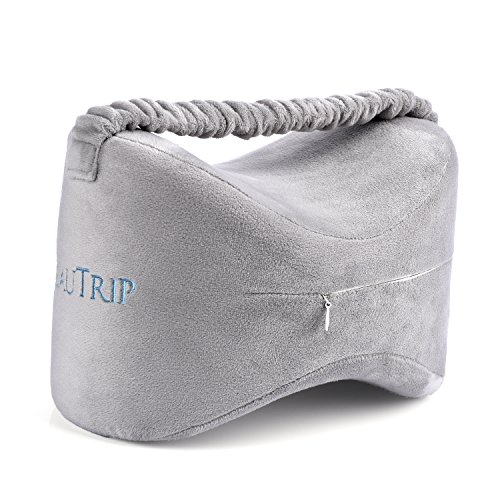 BEAUTRIP Knee Pillows for Side Sleepers Premium Memory Foam Wedge Contour Leg Pillow Cushions Support with Washable Cover for Sciatica Back Hip Joint Knee Pain Relief by BEAUTRIP