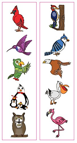 Premium Bird Temporary Tattoos, Party Favors: Hummingbird...