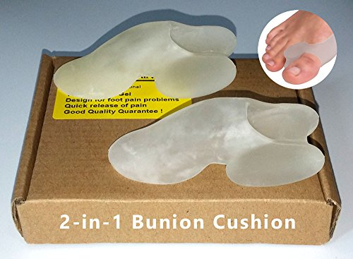 100% Silicon 2IN1 Bunion Big Toe Spreader, Corrector, Corns and Callus Cushion (set of 1 pair) Size: L