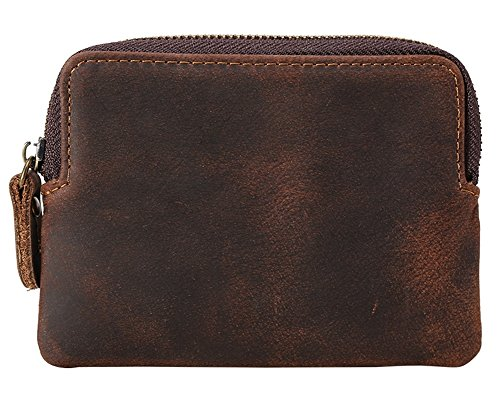 with and Quality Boys Purse Coin Brown Wallet Cash D for Change Style Tray Closure Leather Coin HPG01 Top New Vintage Men Brown Snap Pouch wdqTSYUY