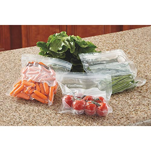 FoodSaver 1-Quart BPA-Free Multilayer Construction Vacuum Zipper Bags, 18 Count