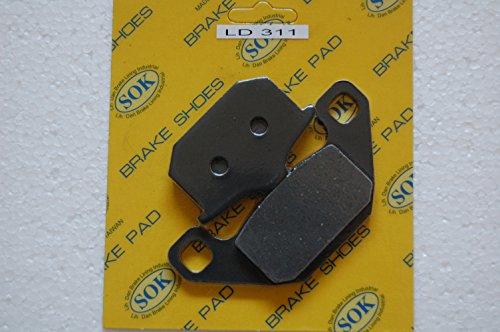 (FRONT BRAKE PADS for KAWASAKI 1987-1998 EL250 Eliminator, 1985-1990 EN450 454 LTD, 1990-2009 EN500 Vulcan 500, 1986-1987 EX250 Ninja, 1987-1997 Vulcan88 VN1500)