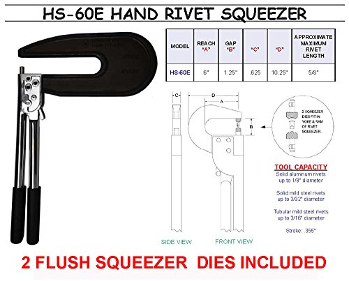 Hand Rivet Squeezer For Solid Amp Tubular Rivets With A 6